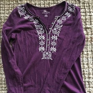 L - Bob Timberlake - Embroidered Long Sleeve Top